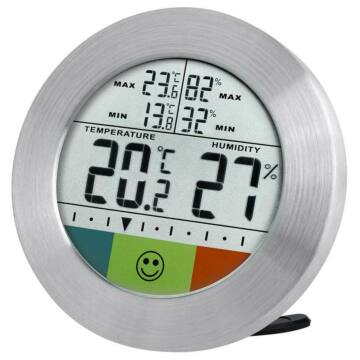 Bresser Temeo Hygro Circuitu időjárás állomás, ezüst 73256