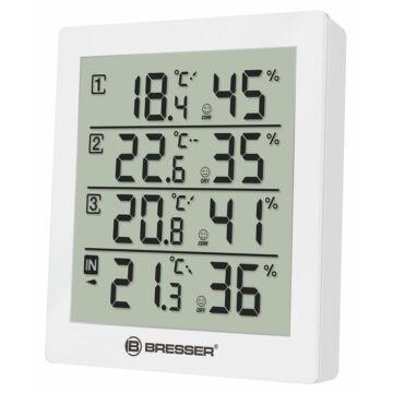 Bresser Temeo Hygro Quadro időjárás állomás, fehér 73258