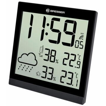 Bresser TemeoTrend JC LCD RC időjárás állomás (falióra), fekete 73267