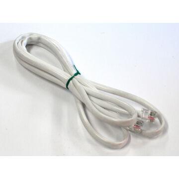 Szilikonkábel 5-eres (ST4-ST4, áttetsző kábel, egy PIN szabadon marad) KabelSil5