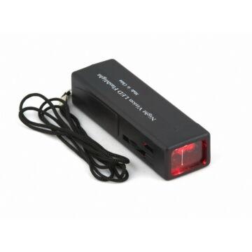 Észlelőlámpa (vörös fényű, 9V elemmel) LAMP1