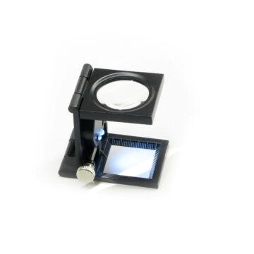 8x30 mm-es nagyítású asztali nagyító LED világítással LupeL30-8BB