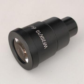WF 20x nagy szemtávolságú sztereó-mikoszkóp okulár (30,5mm)