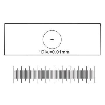 Kalibrációs tárgylemez 0,01 mm beosztással