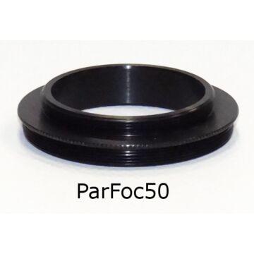 9x50 kereső - T2 adapter (Skywatcher 9x50 keresőtávcsőre T2 menetes kamera szerelhető, pl MGEN, ASI kamerák) ParFoc50