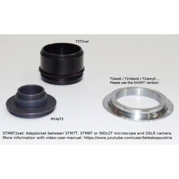 Fotoadapter szett STM7T/STM8T/INDc2T Fototubusról DSLR kamerára STM8T2set
