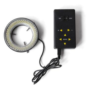 LED-es gyűrűs megvilágítás (144 db LED, szegmentenként kapcsolható)