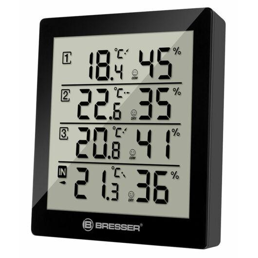 Bresser Temeo Hygro Quadro időjárás állomás, fekete 73257