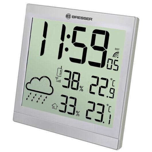 Bresser TemeoTrend JC LCD RC időjárás állomás (falióra), ezüst 73269