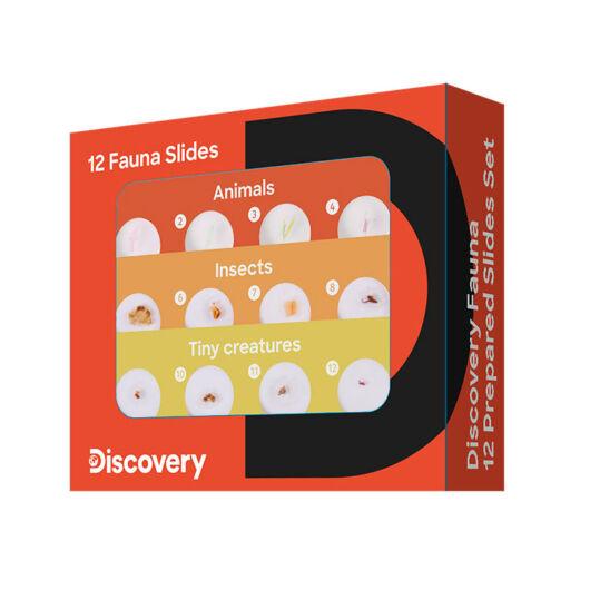 Discovery Fauna – 12 előkészített tárgylemez-készlet 78224