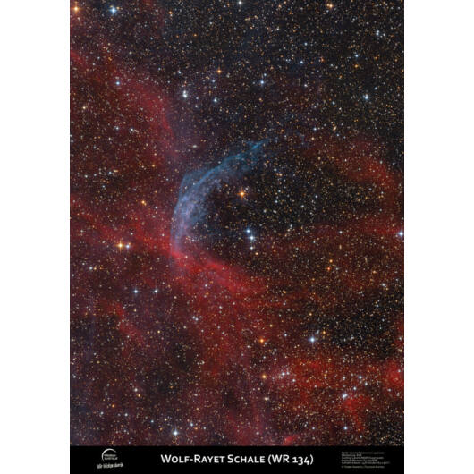 Asztro-poszter, WR134 körüli ködök APwr134