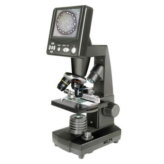 Bresser LCD digitális mikroszkóp (40-400x, 5Mp) LCD-35br