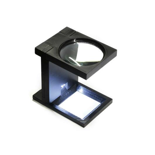 3x90 mm-es nagyítású asztali nagyító LED világítással LupeL90-3BB