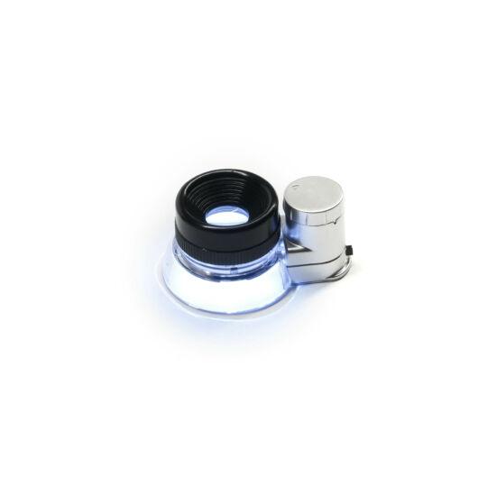 20x12-es nagyítású kézi mikroszkóp LED megvilágítással LupeM12-20BS