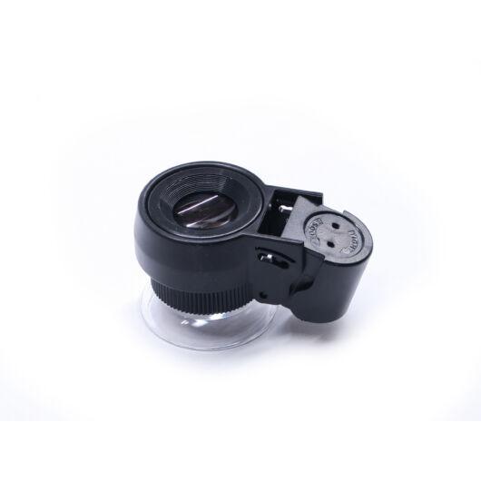 30x21-es nagyítású kézi mikroszkóp fehér és UV LED megvilágítással LupeM21-30BS
