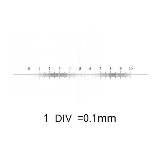 Kalibrációs tárgylemez 0,1 mm beosztással MikRet01