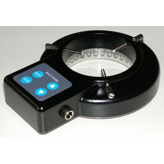 BTC LED-es gyűrűs megvilágítás változtatható nagyítású sztereó mikroszkópokhoz (fóliázott nyomógombokkal) lightCL15