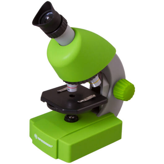Bresser Junior 40x-640x mikroszkóp, zöld 70124